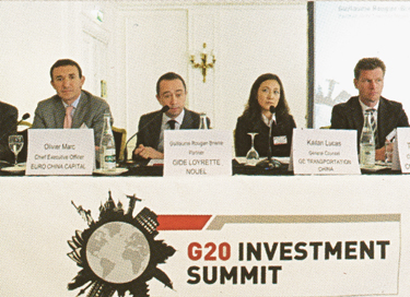 Euro China Capital guest speaker at the G20 Investment Summit